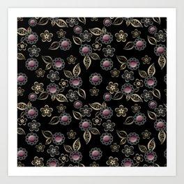 Beautiful brooches Art Print
