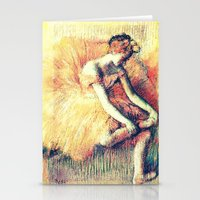 ballerina Stationery Cards featuring BallerinA by PureVintageLove