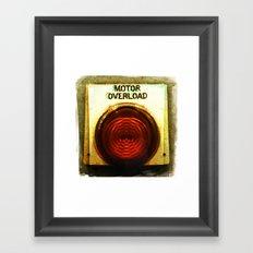 motor overload 2 Framed Art Print