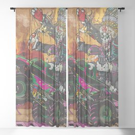 Wolves & Scandals Sheer Curtain