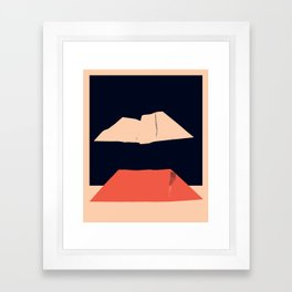 Sea of Japan at Night Framed Art Print