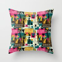 valentines Throw Pillows featuring alternative Valentines by kociara