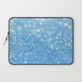 Sparkling Baby Sky Blue Glitter Effect Laptop Sleeve
