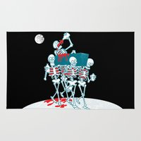 day of the dead Area & Throw Rugs featuring Day of the Dead by drawgood
