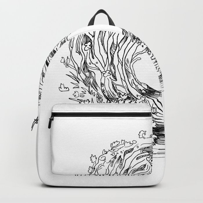 Forest Light Circle Nature Flow Backpack