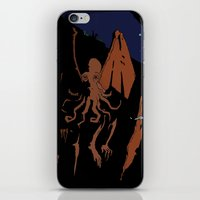 cthulhu iPhone & iPod Skins featuring Cthulhu by Theo Leschevin