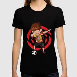 Football Dab Spain Spaniards Spanish Footballer Dabbing Rugby Goal Soccer Gift T-shirt