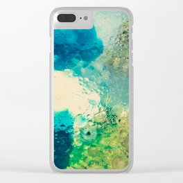 Retro Abstract Photography Underwater Bubble Design Clear iPhone Case