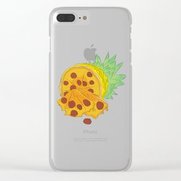 Pizza Pineapple Clear iPhone Case