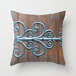 Church swirls Throw Pillow