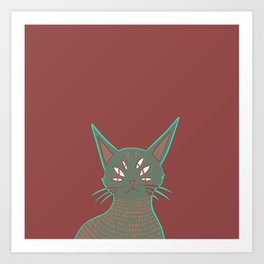 Ghost cat Art Print