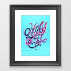 Holy S***T - Typography Framed Art Print