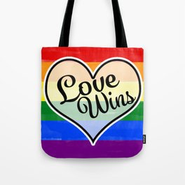 Pride Flag Love is Love-Water Color Graphic  Design  Tote Bag