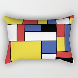 Mondrian Geometric Art Rectangular Pillow