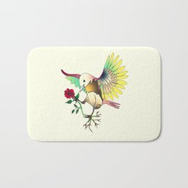Flying with roses Bath Mat