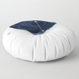 Zodiac Star Constellation - Cancer Floor Pillow