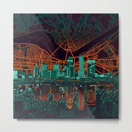 louisville skyline abstract 2 Metal Print