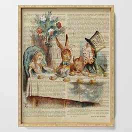 alice in wonderland tea party cup,  Serving Tray