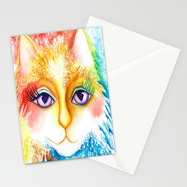 Abstract Cat Original Art Spring Stationery Cards