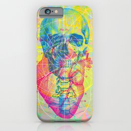 Brain Heart Skull iPhone Case