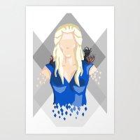 daenerys Art Prints featuring Daenerys Targaryen by itsamoose