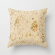 Nature pattern Throw Pillow