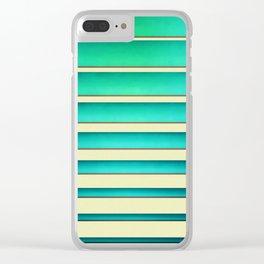 Horizontal shutter Clear iPhone Case