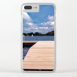 The wooden pier Clear iPhone Case