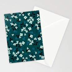 Green pattern floral composition Stationery Cards