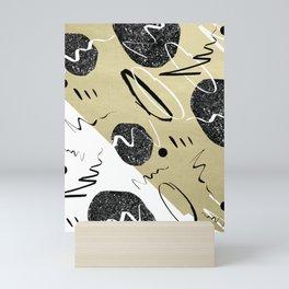 Gold Black White Abstract Glam #1 #trendy #decor #art #society6 Mini Art Print