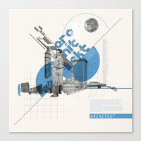 architect Canvas Prints featuring Architect by Kacper Kieć