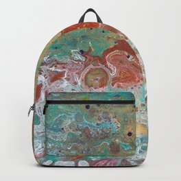 Copper Turquoise Dirty Pour Backpack
