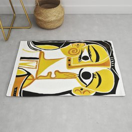 Pablo Picasso - Stylized Portrait of Jacqueline - Digital Remastered Edition Rug
