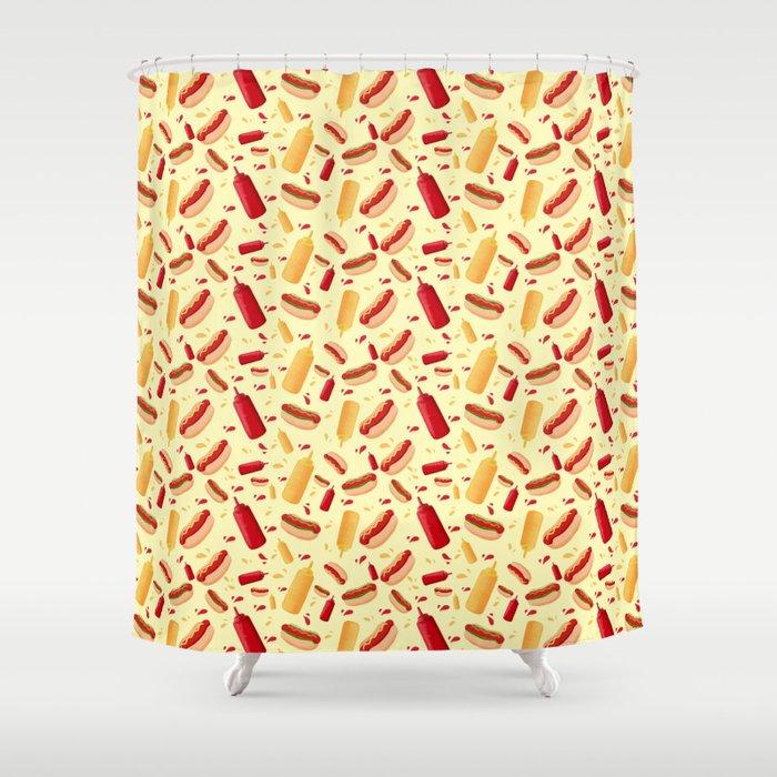 Hot Dog carnival Shower Curtain