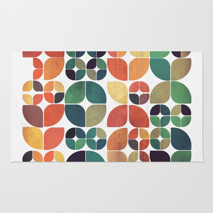 Vintage Fall Pattern Rug