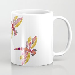 Dragonflies - Red Palette Coffee Mug