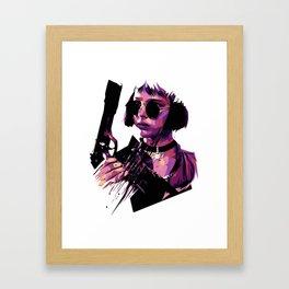 Mathilda from Leon Holding a Pistol Movie Framed Art Print