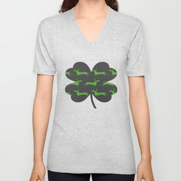 The Luck of the Wieners Unisex V-Neck