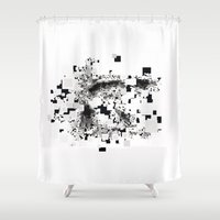 leonardo dicaprio Shower Curtains featuring Leonardo Inside by JuanOsborne