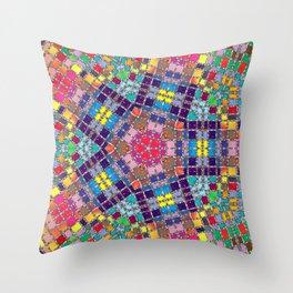 Gemstones and Metal Pentagon Pattern Throw Pillow