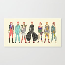 7 Red Heroes Heads Canvas Print
