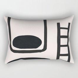 Jar Ladder Moon Hole Half Cup Rectangular Pillow