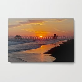 Huntington Beach Sunset 2/28/14 b Metal Print