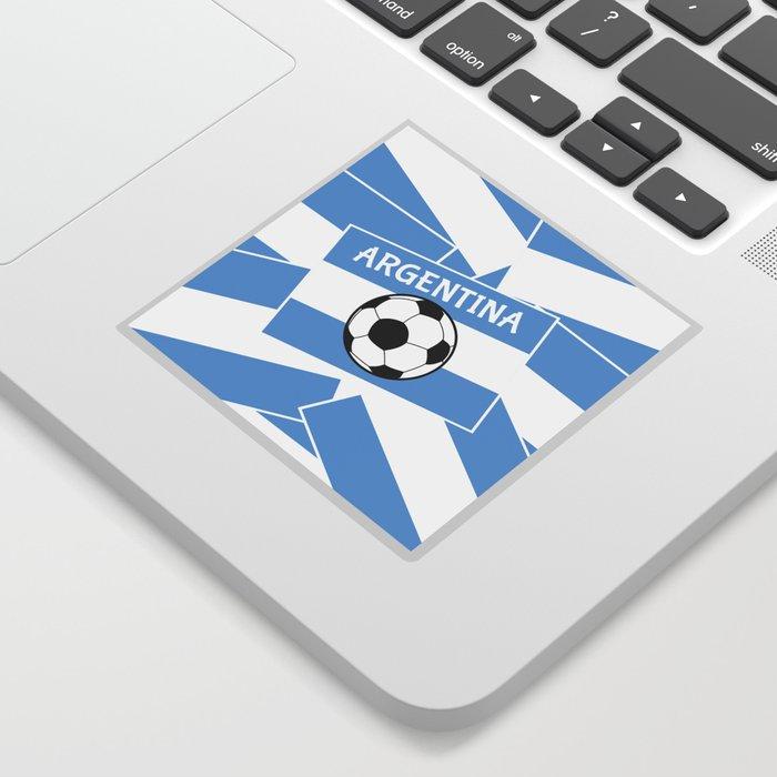 Argentina Football Sticker By Mailboxdisco Society6