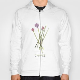 Watercolor Chives Illustration Hoody