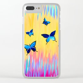 Butterflies and Abstract Colours Clear iPhone Case