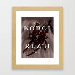 King Of Scars Framed Art Print