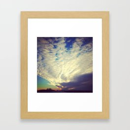 Dawn Cracked Wide Open Framed Art Print