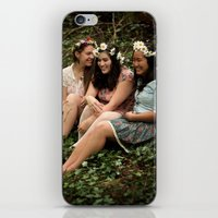 fairies iPhone & iPod Skins featuring Forest Fairies by Frances Dierken