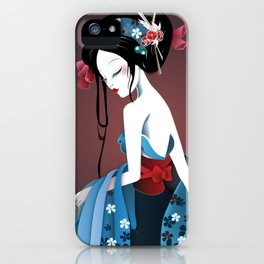 Geisha la blanche iPhone Case